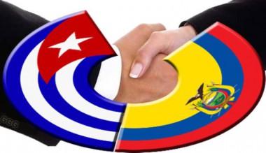 Imagen alegórica a las relaciones Cuba-Ecuador