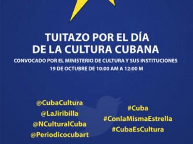 Tuitazo por el Día de la Cultura Cubana