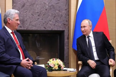 presidente de Cuba, Miguel Díaz-Canel, y su homólogo de Rusia, Vladimir Putin