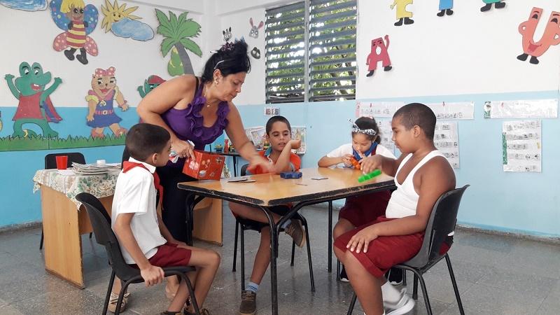 una de las aulas escuela especial galarraga