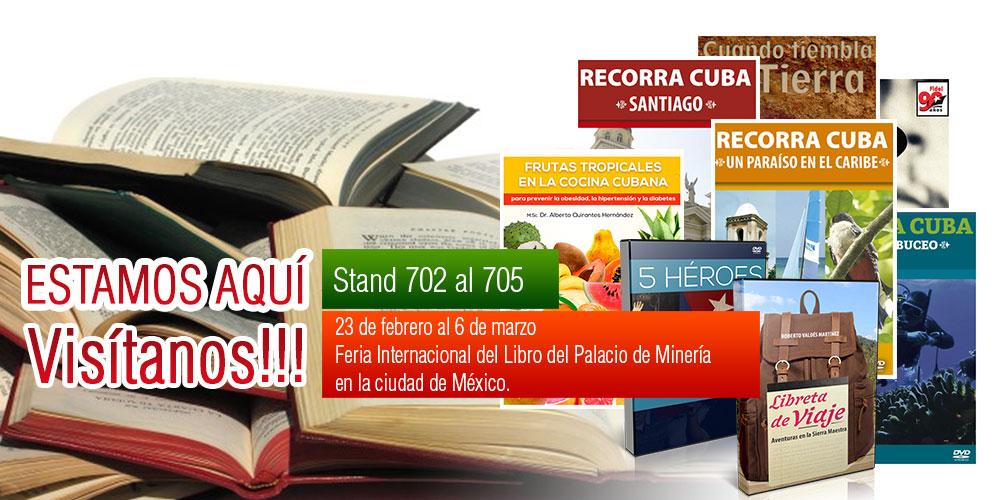 Banner alegórico a la Feria Internacional del Libro de Minería